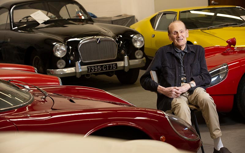 Nicholas Begovich with his cars