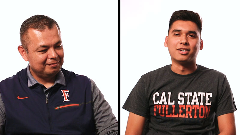 CSUF student and his father