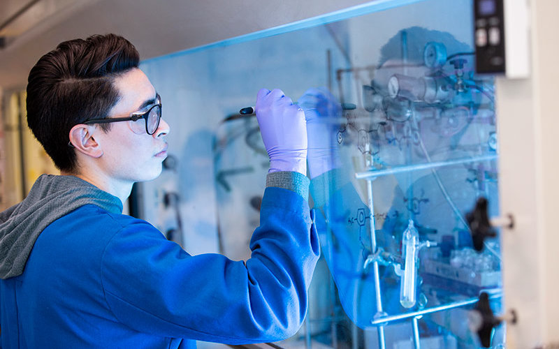 Alex Ku working in his Research Laboratory