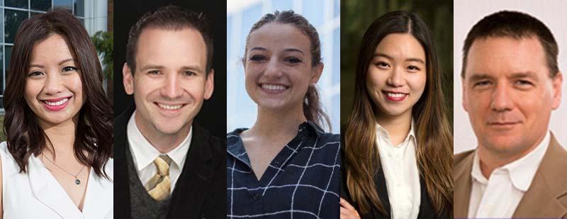 Vanessa Ganaden, Jonny May, Rachel Herzog, Yumi Liang and Chad Armstrong