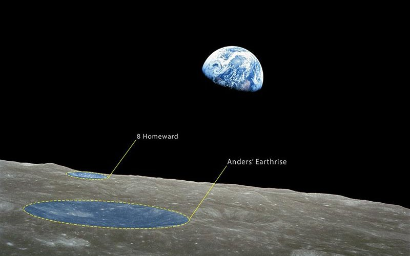 Earthrise photograph, taken by Apollo 8 astronaut William A. Anders