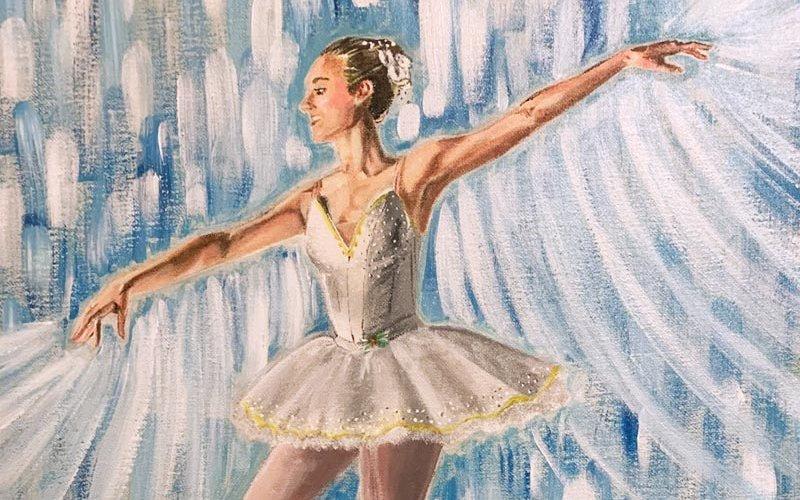 Ballerina painting.