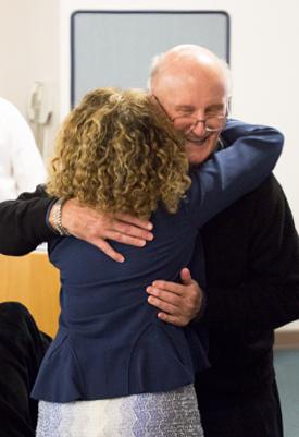 Jack Bedell Hugs Mildred García