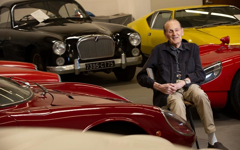 Nicholas Begovich with his car collection