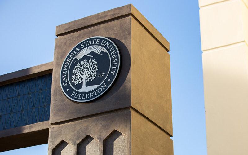 CSUF Gateway seal.