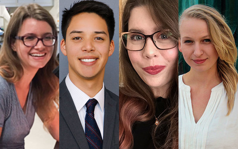 Student Research Competition Finalists: Amber Myers, Dylan Serpas, Liz Hitch, Larissa Smulders.