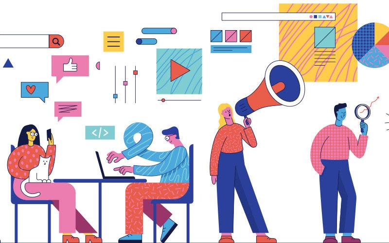 Communication professionals illustration