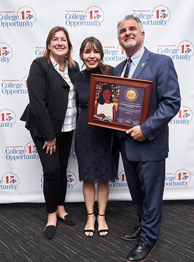 Julie and Fram Virjee honor an award winner.