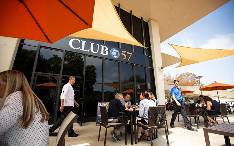 Outside Seating at Club 57