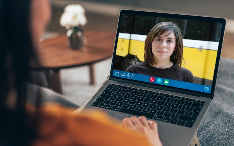 Cristina Henriquez on Zoom Virtual Meeting