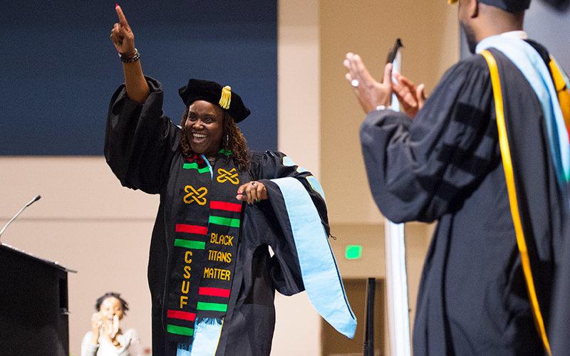 Celebrating Graduate at Pan Afrikan Ceremony