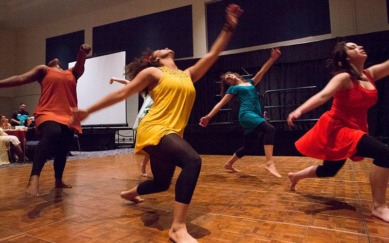 Student dancers perform.