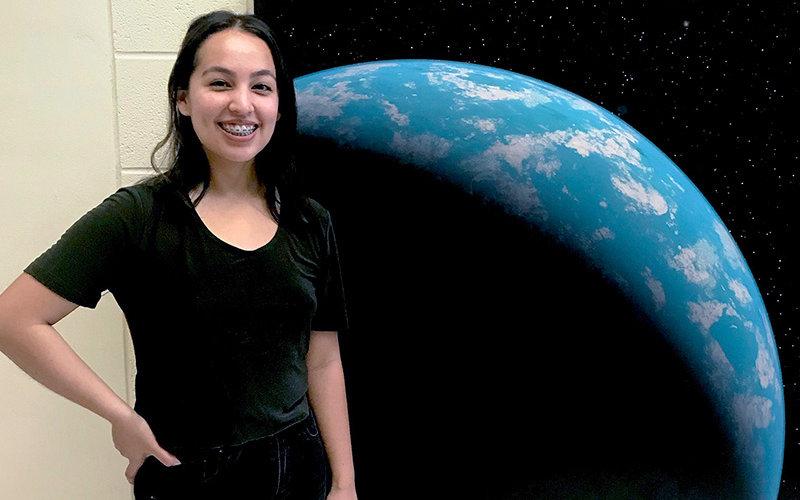 Gravitational wave student Denyz Melchor
