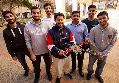 CSUF Award winning drone team.