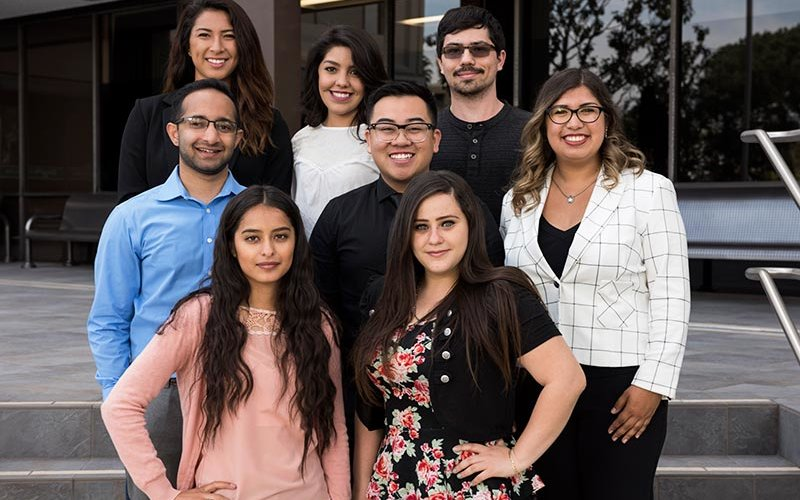 Eight students participating in the Global Titans Leadership Program
