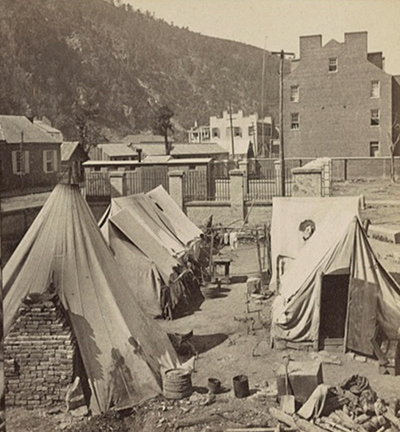 Historic photo of Harpers Ferry, West Virginia.