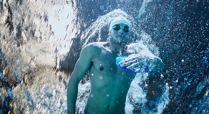 Rami Anis swimming