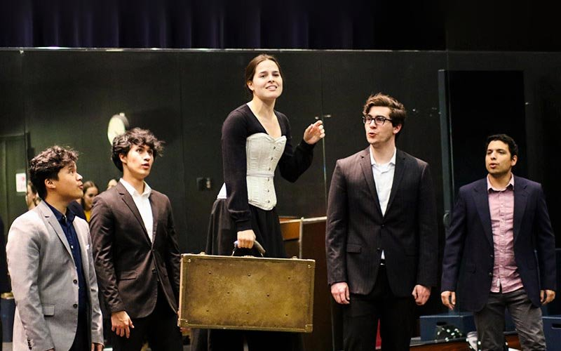 Cal State Fullerton Musical Theater Students prepare for Jane Eyre performence.