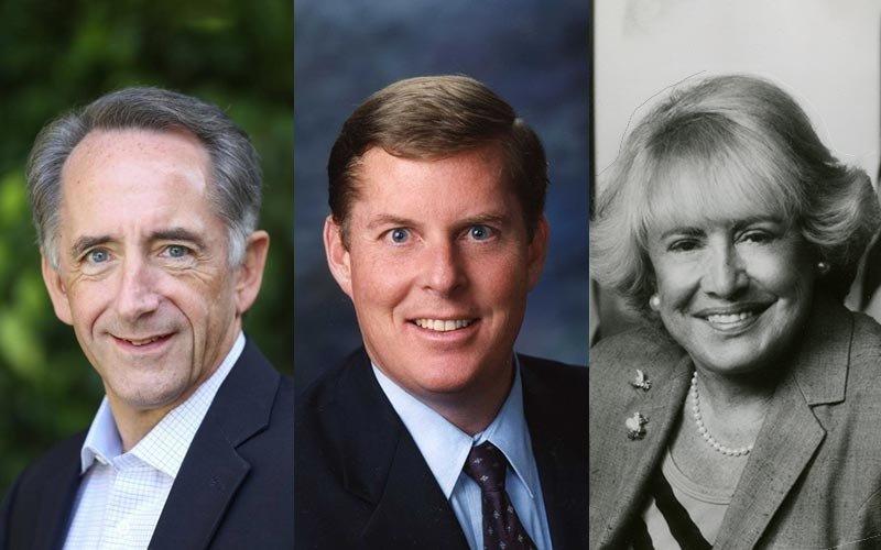 Joe Dunn, Curt Pringle and Harriett Wieder
