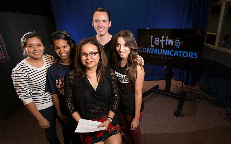 Inez Gonzalez with Students