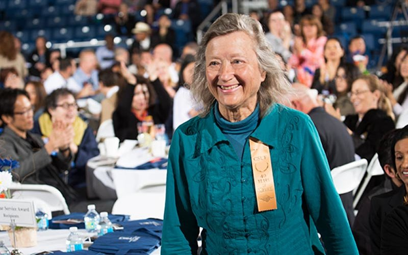 Biochemist Maria Linder, woman smiling