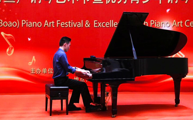 Matt performing piano.