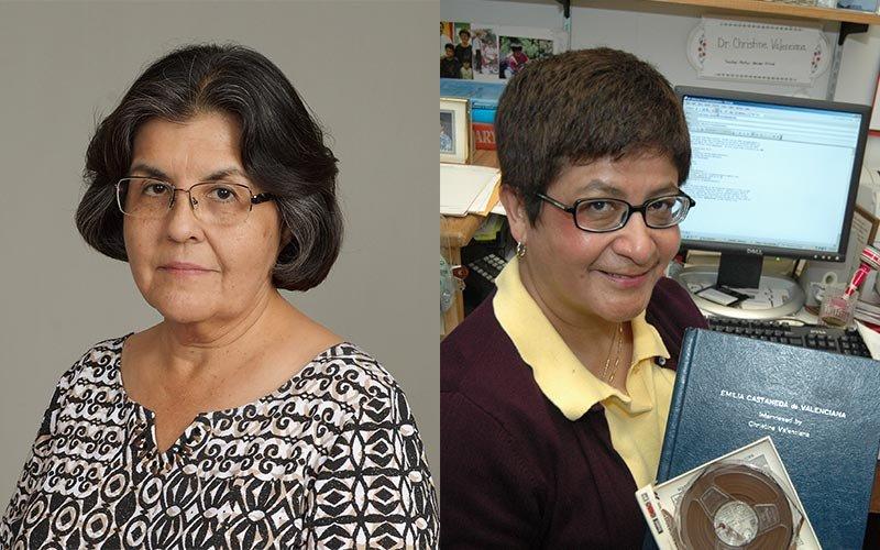 M Guadalupe Espinoza and Christine Valenciana