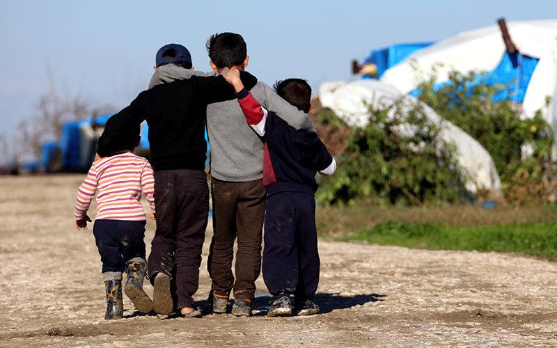 Migrant Children at camp.