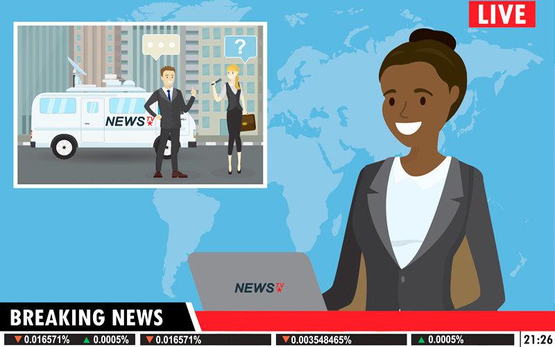 Black Journalist illustration