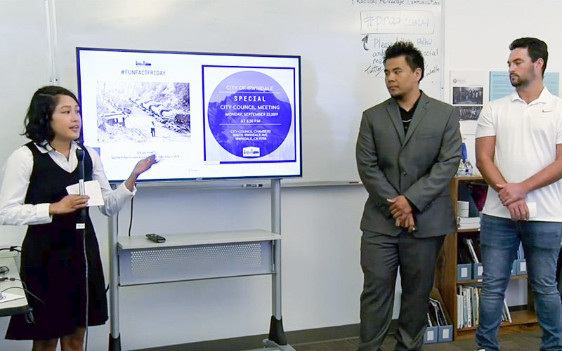 PR Advantage Presentation Students
