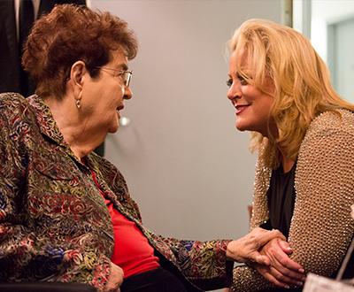 Jane Paul with Deborah Voigt