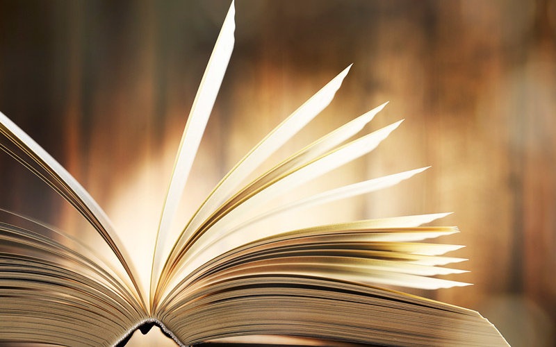 open book with pages fluttering
