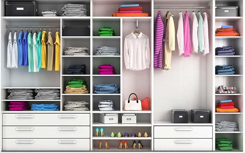 Clean, organized closet