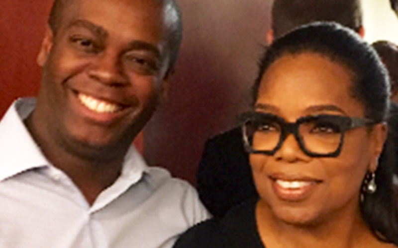 Anthony Sparks and Oprah Winfrey