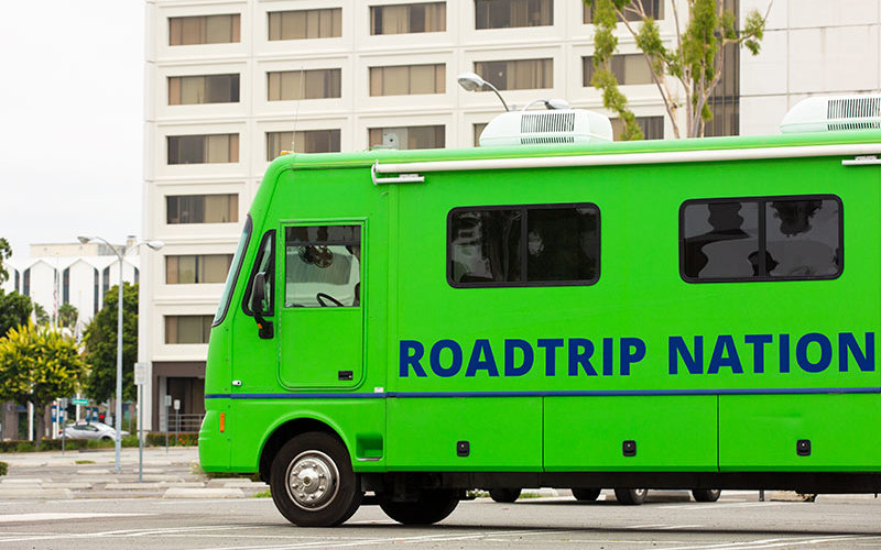 Road Trip Nation RV on CSUF Campus