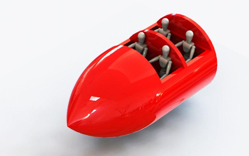 Roller coaster cart rendering