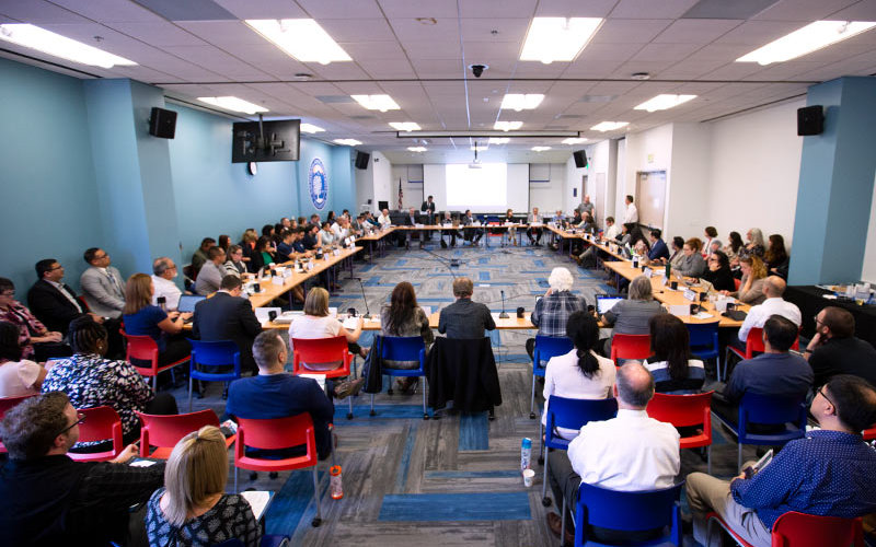 Academic Senate listens to strategic plan.