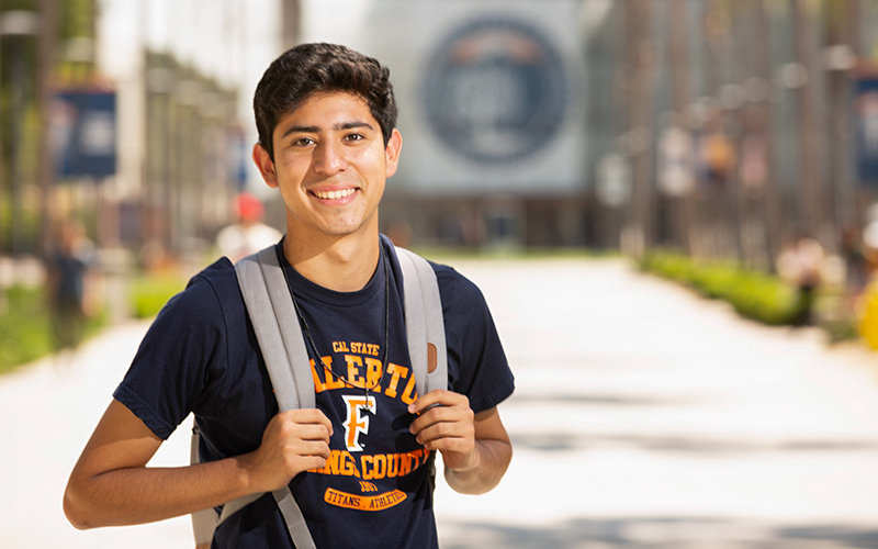 Student Athlete with Backpack