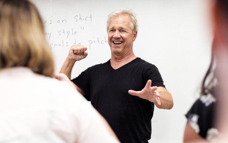 Man Teaching Acting