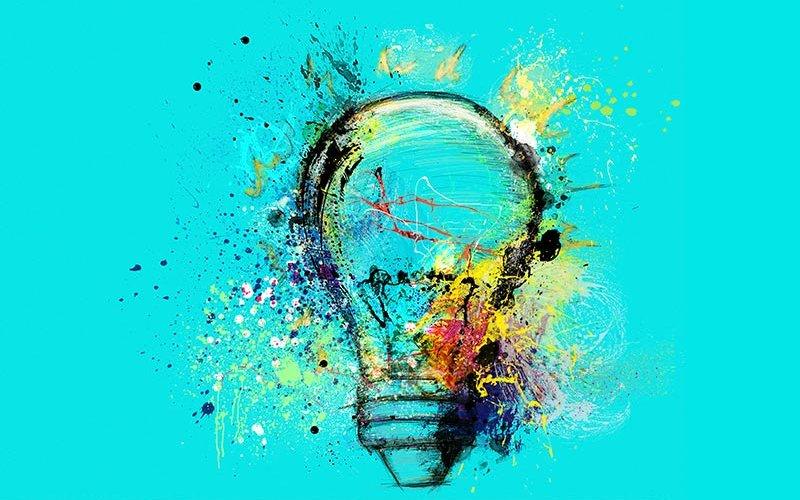 Light Bulb thinking illustration.