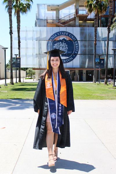 Yasmine Alam in CSUF Graduation attire