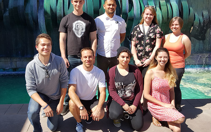 Art students who will be attending internship at University College Nordjylland.
