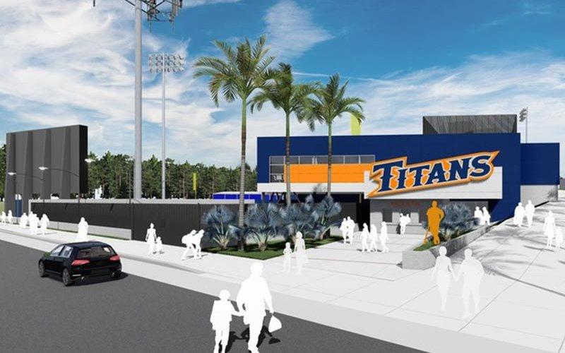 Render of Baseball and Softball Facilities Upgrade