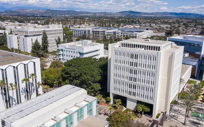 Aerial view of CSUF campus