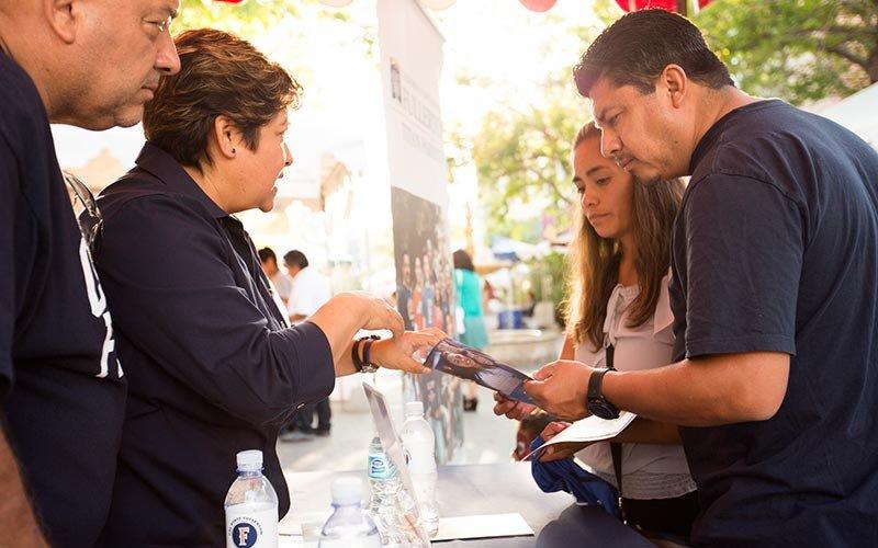 Raquel Nardi-Arroyo-Floriano gives the Calixto family college information.