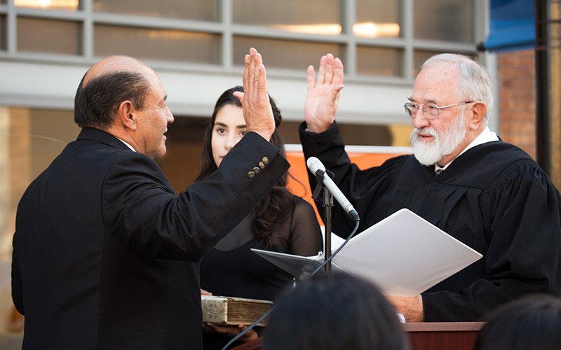Lou Correa sworn-in to office