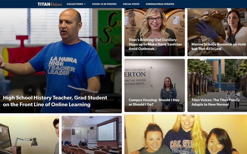 Screenshot of Titan Voices blog
