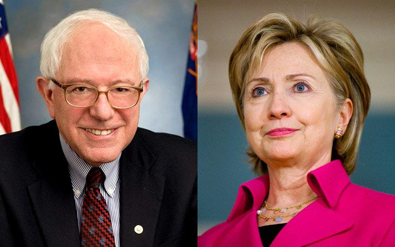 Bernie Sanders and Hilary Clinton