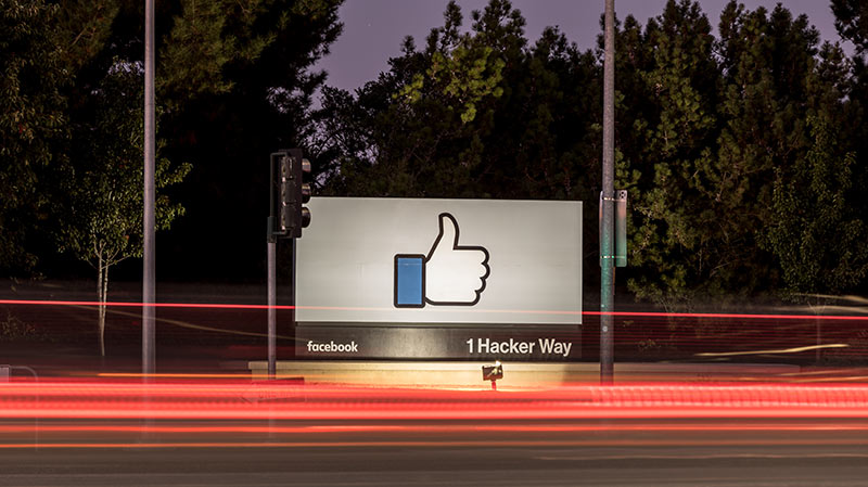 Street view of Facebook headquarters.