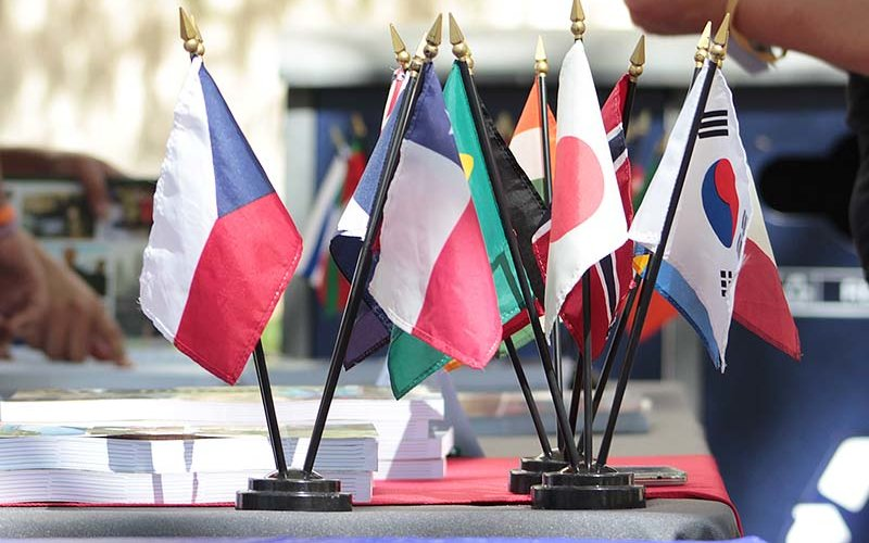 group of international flags